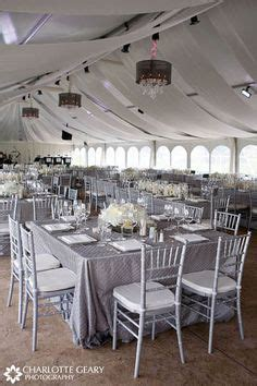 Wedding tent decorated in silver best stuff
