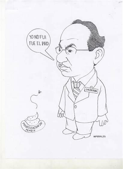 Felipe Privatizacion Pemex Calderon Caricatura Cel Politica