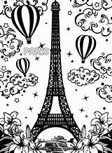Eiffel Tower Coloring Paris Pages Printable Drawing France Getdrawings Easy Drawings Getcolorings Incredible Goldendoodle Pencil Colorings sketch template