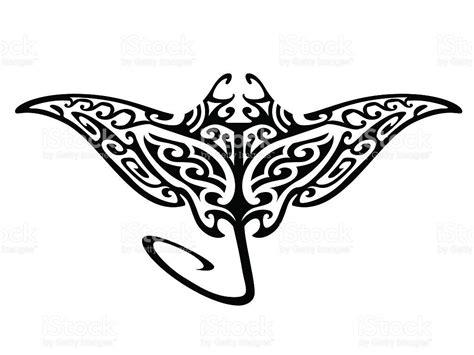 tribal flying manta ray vector id