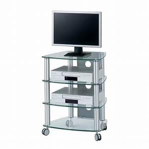 Meuble Tv Etagere : meuble tv catrina aluminium ~ Dode.kayakingforconservation.com Idées de Décoration