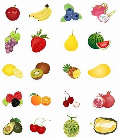 Fruit Clipart Pineapple Blueberry Cherry Strawberry Lemon