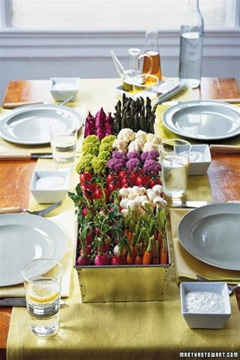 diy table runner ideas veggie wedding decor
