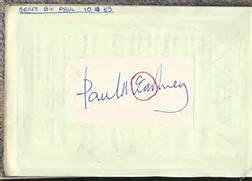 Paul McCartney Autograph : Lot 140