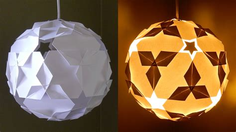 Diy Puzzle Lamp by Diy Paper Lantern Star Ball Learn How To Make A Puzzle