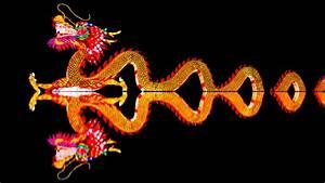 Wallpaper China Lights, Chinese Dragon, 4K, 5K