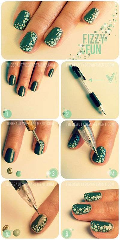 easy simple step  step nail art tutorials