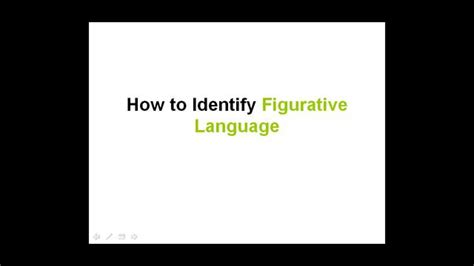 How To Identify Figurative Language On Vimeo