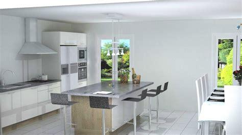 ilots centrale cuisine cuisine avec ilot central néo blanc brillant cuisiniste