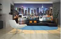 excellent city wall mural NEW YORK CITY NIGHT SKYLINE MANHATTAN VIEW Photo Wallpaper Wall Mural 335x236cm | eBay