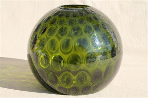 vintage green glass coin spot dot l globe blown glass light shade