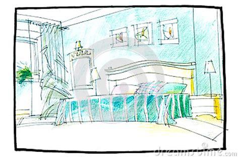 croquis chambre a coucher croquis d 39 une chambre à coucher photo stock image 56547875