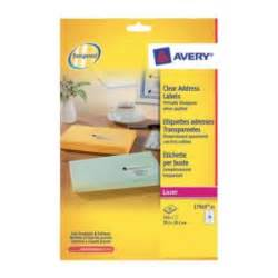 avery clear address label laser l7563 transparent 318 With clear label stock