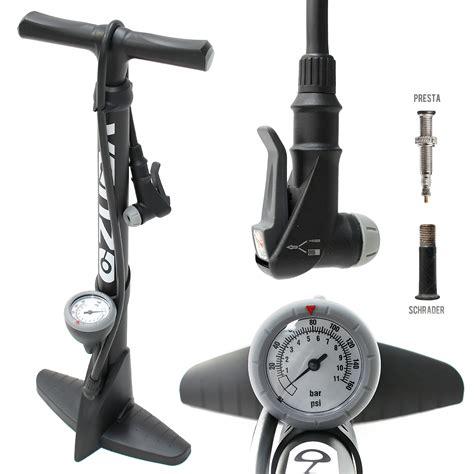 Venzo High Pressure Bicycle Floor Air Pump Gauge Ebay