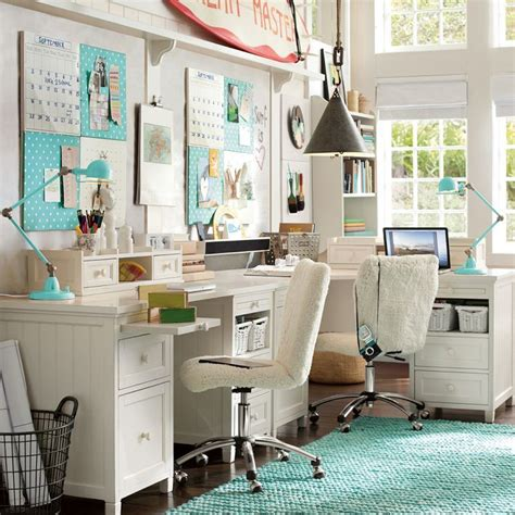 Desks For Small Bedrooms by Pottery Barn Beadboard Desk Set Up Sewing Studio