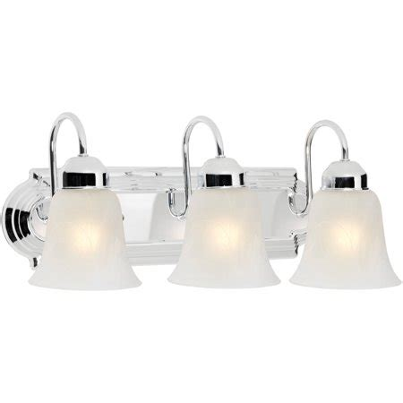 walmart vanity lights chapter 3 light bathroom vanity light polished chrome