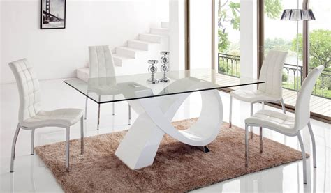 unique rectangular  wood clear glass top dining room