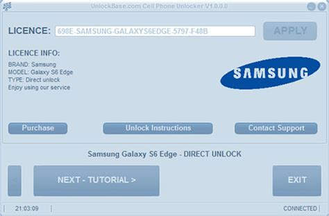 Samsung Galaxy S6 / S6 Edge Direct Unlock With Usb Cable
