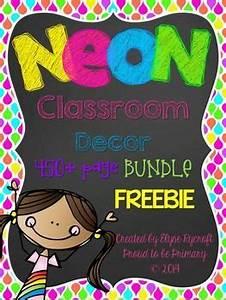 NEON with Chalkboard Behavior Clip Chart FREEBIE Sampler
