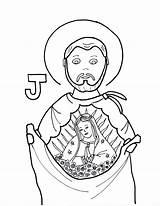Coloring Pages Margarita Catholic St Saint Diego Juan Saints La Printable Colorear Para Getcolorings Brigid Astonishing Portrait Cross Sheets Wordpress sketch template
