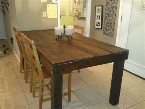 rustic table  legs    home projects