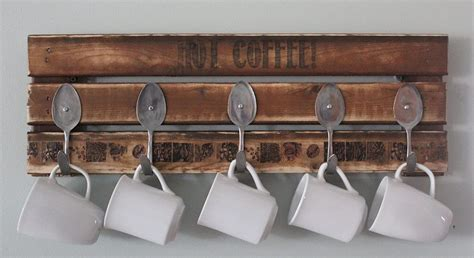 coffee mug rack pallet coffee mug holder pallet furniture
