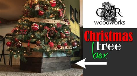 building a xmas tree box tree box make a diy cover for your tree base cmrw 41