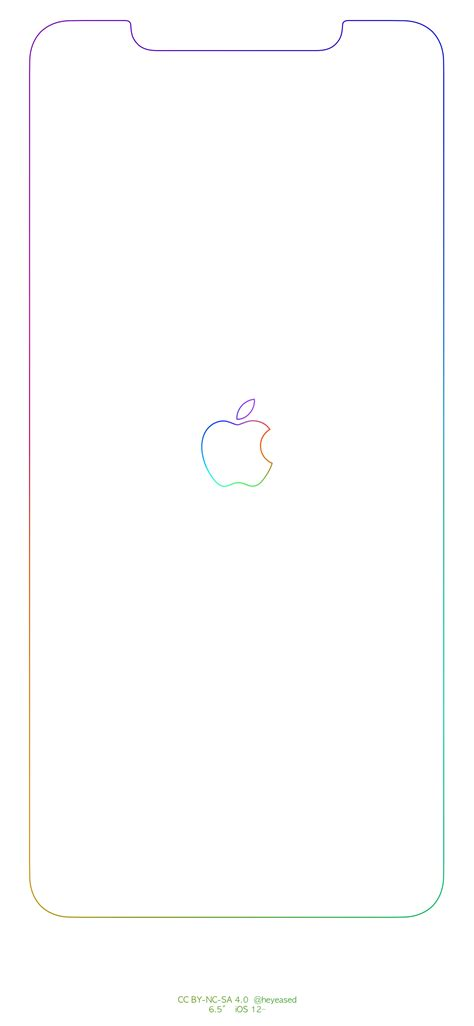 Apple Logo Iphone Xr Border Wallpaper by Rainbow Border Apple Logo Iphone Wallpapers Imgur Links