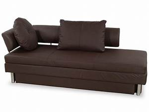 nubo brown leatherette queen size sofa bed by at home usa With sofa bed name