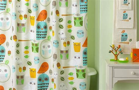 Owl Themed Bathroom Set by More Modern Shower Curtain Finds For A Stylish Powder Room