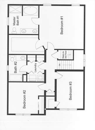 bed room house plan with stairs collection 3 bedroom floor plans monmouth county county new