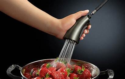 Cinemagraph Cinemagraphs Kitchen Faucet Strawberry Fruits Slate