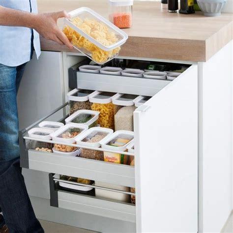 boites rangement cuisine des boîtes alimentaires pour tiroir et placard on range