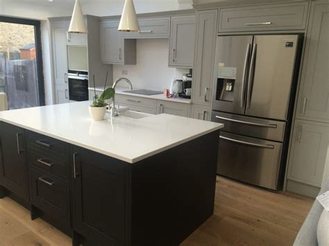 small kitchen island painting howdens kitchens milton keynes hertfordshire