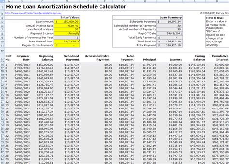 mortgage amortization table excel personal loan amortization table loan amortization