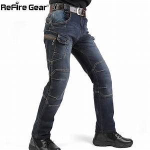 New IX7 SWAT Military Style Cargo Jeans Men Casual ...