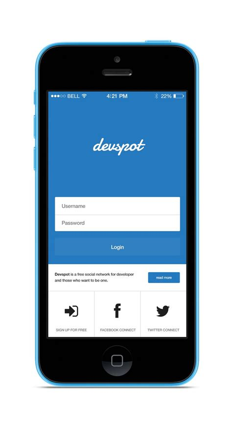 mobile applications login screen flat material ui ios and