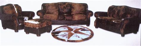 western themes home decor cowhide living room furniture