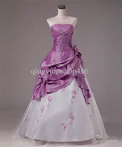Lavender and silver wedding dresses wedding lady light for Purple wedding dresses for sale