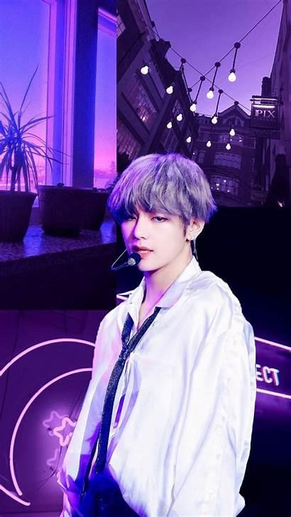 Bts Aesthetic Purple Taehyung Wallpapers Tae Kim