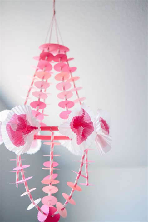 diy paper chandelier design improvised