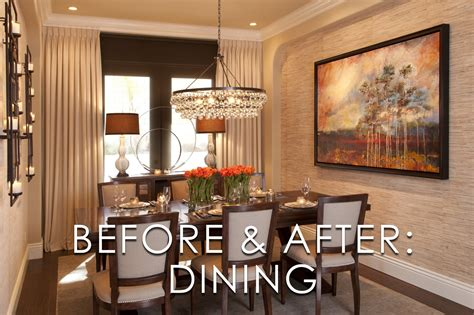 vibrant transitional dining room before and after san diego interior designers