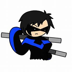 Chibi Nightwing by FlareSiram on DeviantArt