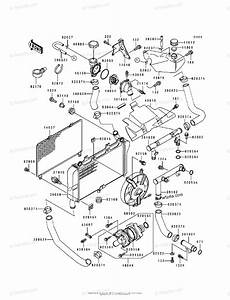 Kawasaki Motorcycle 1992 Oem Parts Diagram For Radiator
