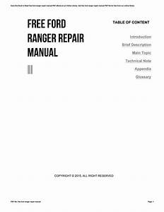 Free Ford Ranger Repair Manual By Muimail0010