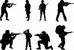 Army soldier silhouette clipart kid - Clipartix