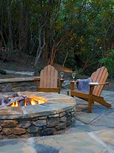 Large, Natural, Stone, Fire, Pit