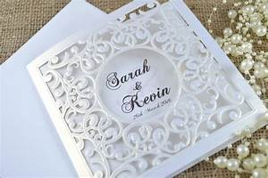 laser cut wedding invitation white laser cut wedding With how much are laser cut wedding invitations