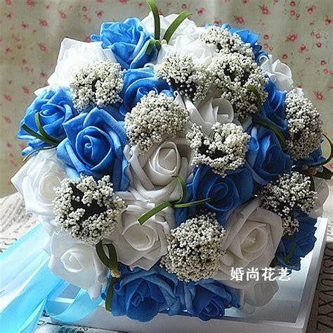 cheap wedding bride bouquet artificial silk flowers