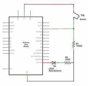 Tilt Switch Arduino Schematics - Theorycircuit